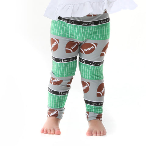 Baby Girls Custom Football Ireland Leggings