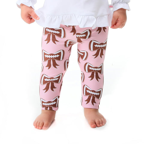 Baby Girls Pink Bow Football Ireland Leggings