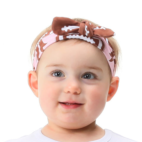 Pink Bow Football Headband