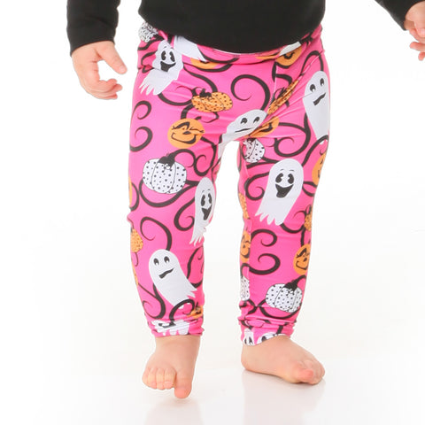 Baby Girls Pumpkin Swirl Ireland Leggings