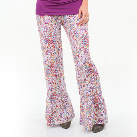 Ladies Fall Dancing Dots Ruffle Pant