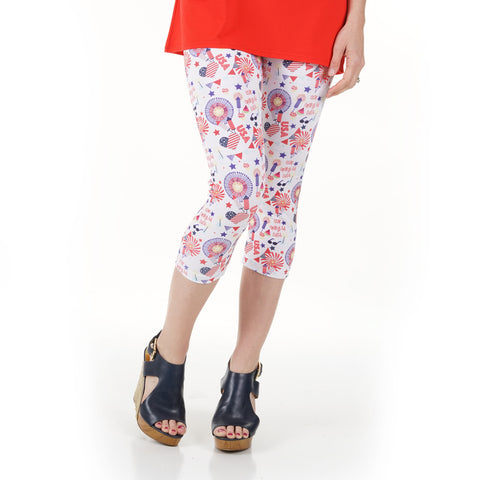 Ladies Fireworks Emoji Arden Capri Leggings