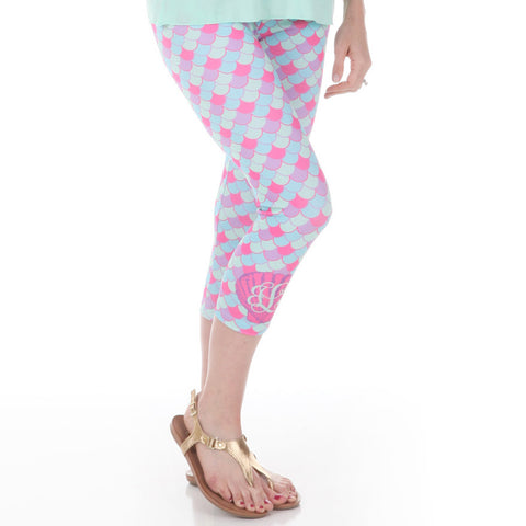 Ladies Mermaid Arden Capri Leggings