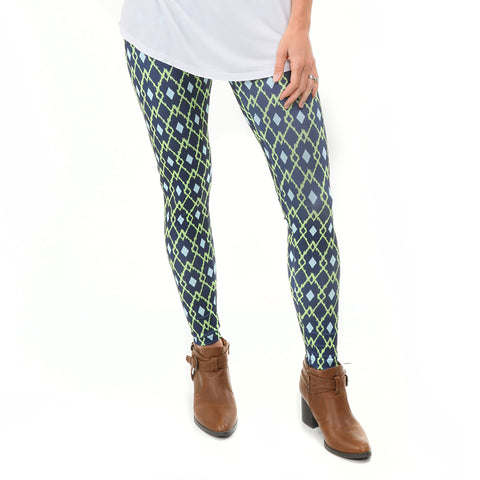 Ladies Argyle Ikat Arden Leggings