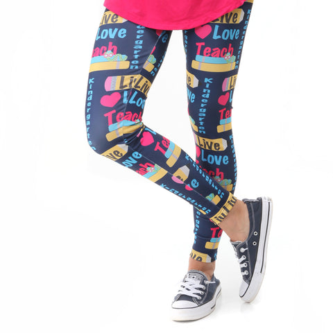 Ladies Live Love Teach Arden Leggings