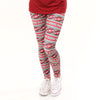 Ladies Crimson Gray Football Arden Leggings