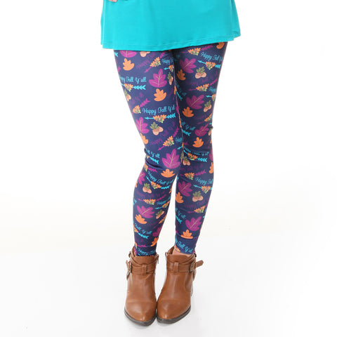 Ladies Happy Fall Yall Toss Arden Leggings