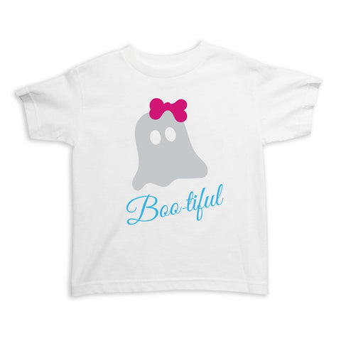 Bootiful Ghost with Pink Bow Tee