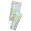 Girls Aqua Paisley Arden Leggings