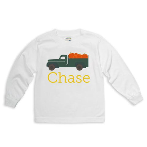 Pumpkin Truck Name Tee