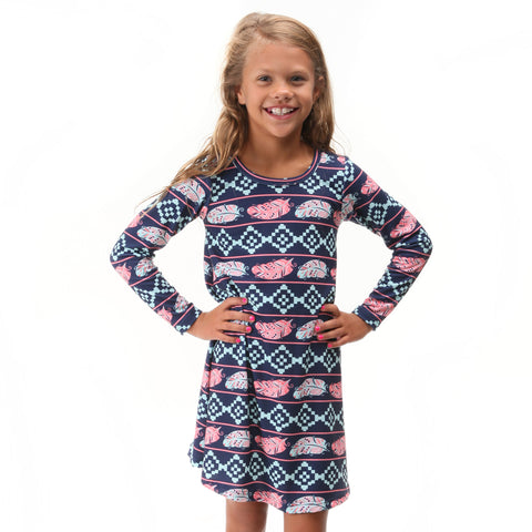 Feather Aztec Charlee Dress