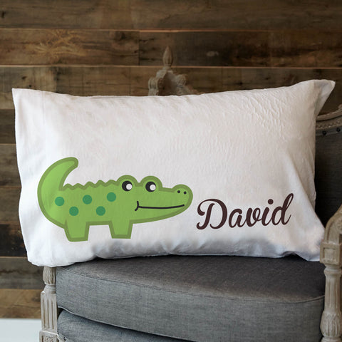 Alligator Name Minky Pillowcase