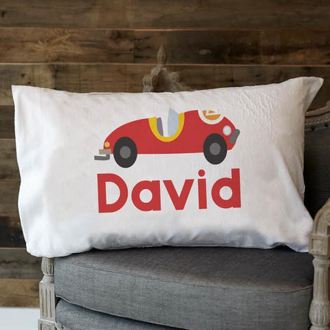 Race Car Name Minky Pillowcase