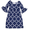 Navy Lattice Liv Dress