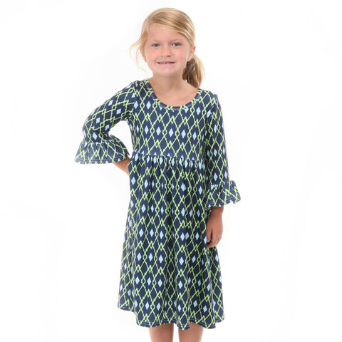 Argyle Ikat Liv Dress