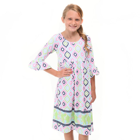 Ikat Elephant Liv Dress