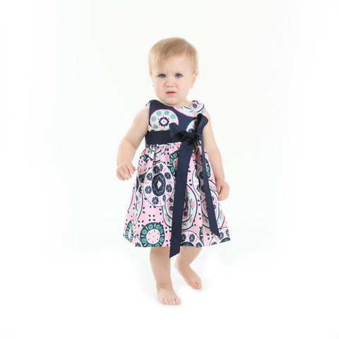 Baby Girls Floral Geo Sash Ava Dress