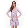 Coral Dancing Dots Aubrey Dress