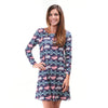 Feather Aztec Aubrey Dress
