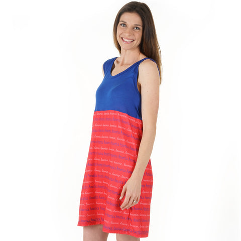 Blue and Red Name Jade Tank Dress