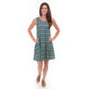 Argyle Ikat Rose Swing Dress