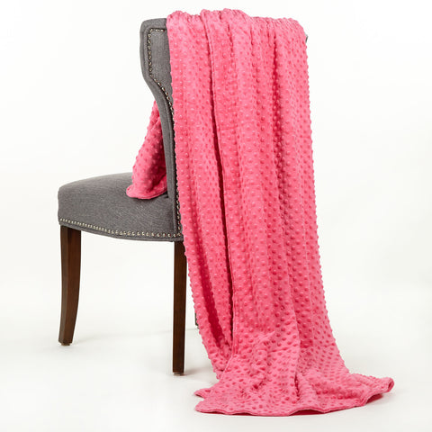 Hot Pink Minky Throw