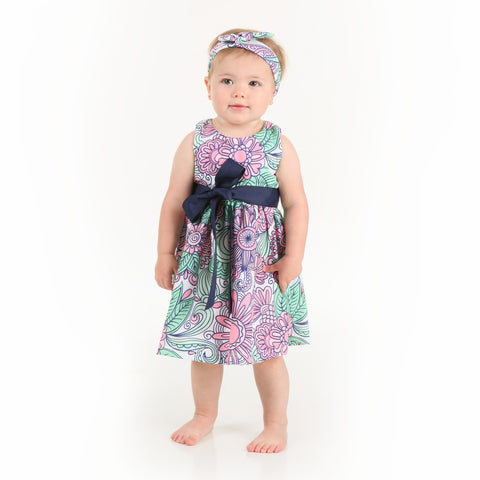 Baby Girls Floweret Sash Ava Dress