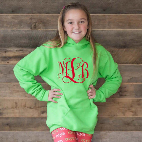 Hooded Initial Sweatshirt