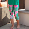 Pineapple Arden Capri Leggings