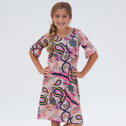 Tan Paisley Liv Dress