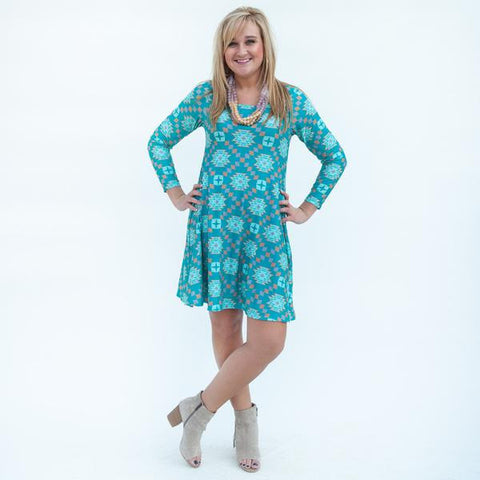 Aztec Aubrey Dress