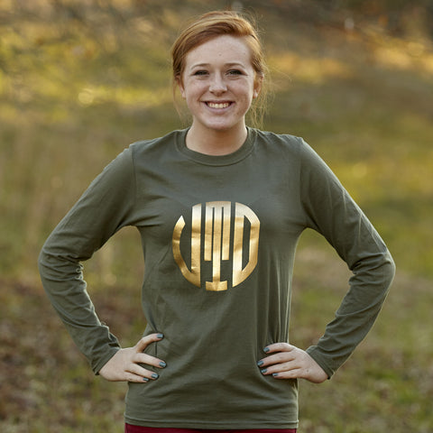 Olive with Gold Initials Tee