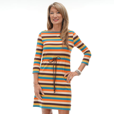 Fall Stripe Tie Dress