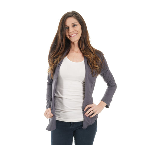 Charcoal Gray Natalie Cardigan