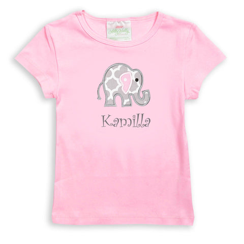 Girls Candy Pink Fitted Tee