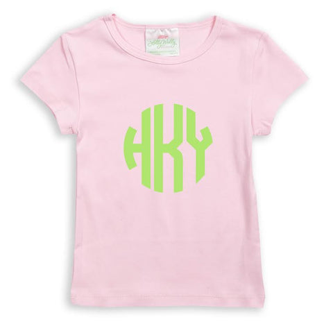 Light Pink Initials Top