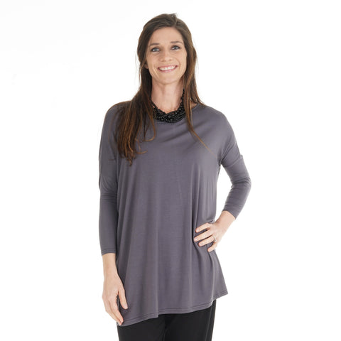 Charcoal Gray Rae Top