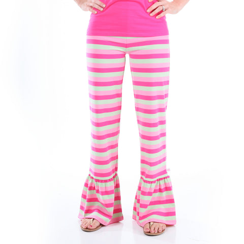 Pink Mint Stripe Pant