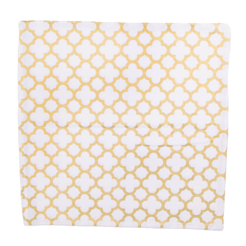 Gold Lattice Throw Pillow Cover