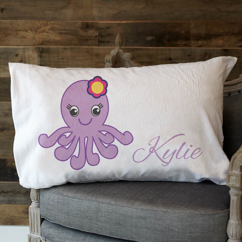 Minky Octopus Name Pillowcase