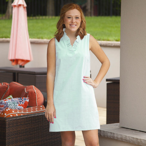 Seersucker Seafoam Carolina Dress