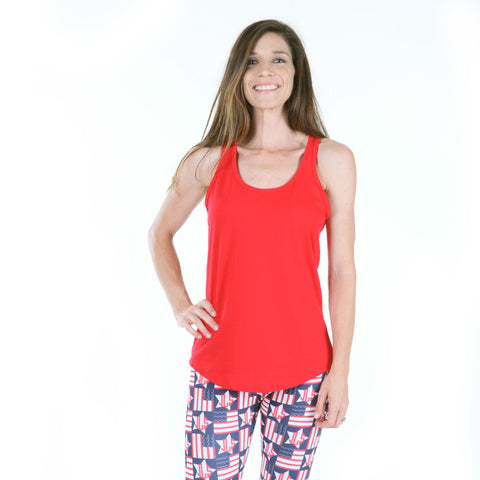 Ladies Red Racerback Tank