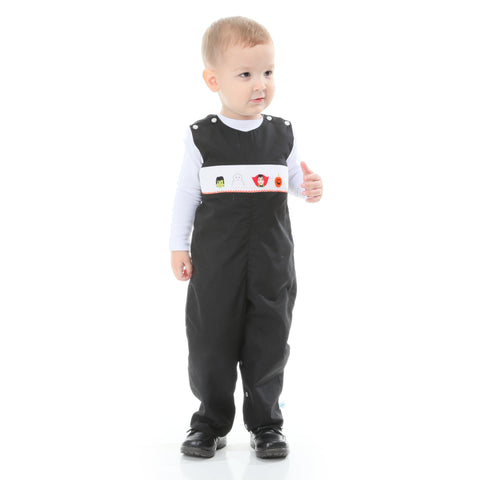 Black Halloween Smocked Longall