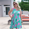 Pineapple Rose Swing Dress
