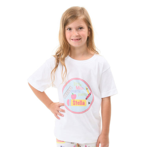 Little Miss Smartie Pants Print Name Tee