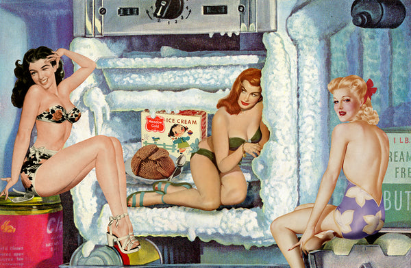 pinups cool chicks nelson de la nuez humor art