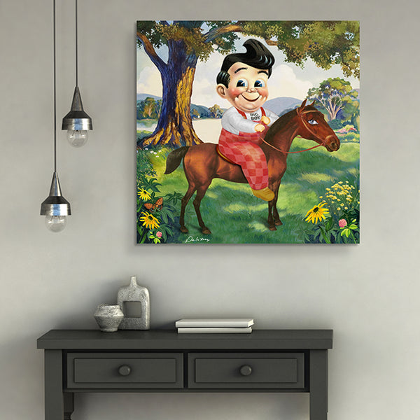 bobs big boy equestrian horse contemporary art nelson de la nuez pop artist king of pop art surreal