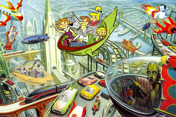 the museum of humor art nelson de la nuez moha jetsons space age morning rush hour