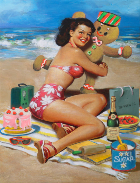 nelson de la nuez museum of humor art moha sugar daddy sexy pin up cookie gingerbread dessert candy beach