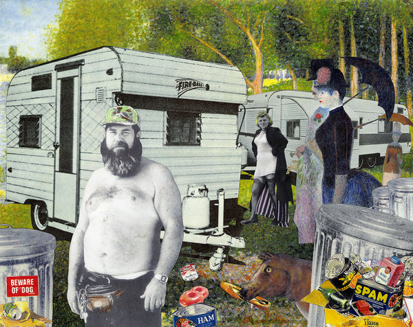 trailer trash, humor art museum the MOHA Nelson De La Nuez modern art